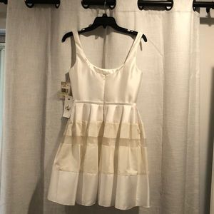 ABS Off White A Line Dress